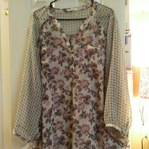 Maurices Sheer Floral Blouse